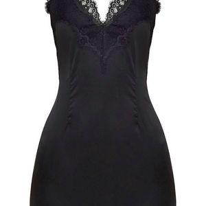 Black Lace Trim Dress